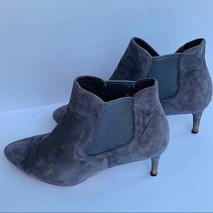 COLE HAAN | Suede Slip On Ankle Pumps Heels 10